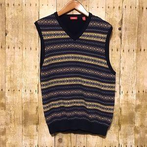 IZOD Navy V-Neck Sweater Vest Sz XL
